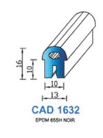 CAD1632N Profil EPDM   65 Shore   Noir