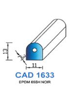 CAD1633N Profil EPDM   65 Shore   Noir