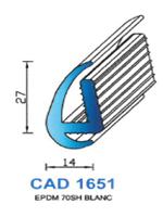 CAD1651B Profil EPDM   70 Shore   Blanc