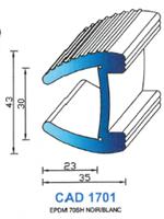 CAD1701B PROFIL EPDM - 70SH - NOIR