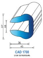 CAD1708B Profil EPDM <br /> 70 Shore <br /> Blanc<br />