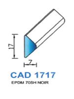 CAD1717N Profil EPDM   70 Shore   Noir