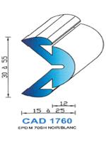 CAD1760N Profil EPDM   70 Shore   Noir