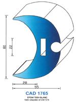 CAD1765B Profil EPDM   70 Shore   Blanc