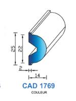 CAD1769C Profil EPDM   70 Shore   Couleur