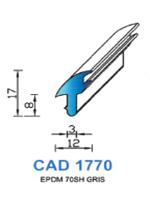 CAD1770G Profil EPDM   70 Shore   Gris