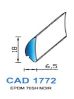 CAD1772N Profil EPDM   70 Shore   Noir