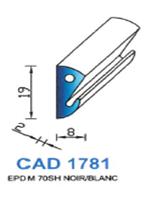 CAD1781C Profil EPDM   70 Shore   Couleur