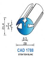 CAD1788B Profil EPDM <br /> 70 Shore <br /> Blanc<br />