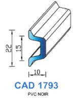CAD1793N Profil PVC   Noir