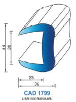 CAD1799B Profil EPDM <br /> 70 Shore <br /> Blanc<br />