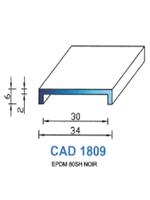 CAD1809N PROFIL EPDM - 80SH - NOIR