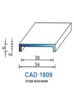 CAD1809N Profil EPDM   80 Shore   Noir