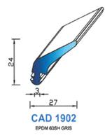 CAD1902G Profil EPDM   60 Shore   Gris