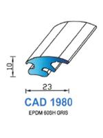 CAD1980G Profil EPDM   60 Shore   Gris