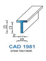 CAD1981N Profil EPDM   70 Shore   Noir