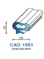 CAD1983N Profil EPDM   65 Shore   Noir