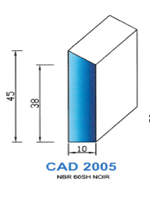CAD2005N Profil NBR   60 Shore   Noir