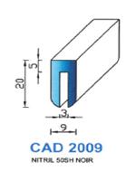 CAD2009N Profil NBR   50 Shore   Noir