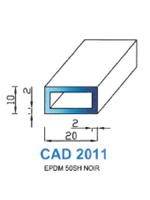 CAD2011N Profil EPDM   50 Shore   Noir