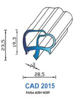 CAD2015N Profil PARA <br /> 40 Shore <br /> Noir<br />