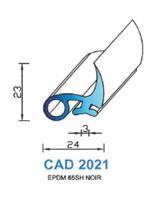 CAD2021N Profil EPDM   65 Shore   Noir