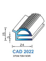 CAD2022N Profil EPDM <br /> 70 Shore <br /> Noir<br />