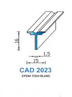CAD2023B Profil EPDM   70 Shore   Blanc