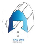 CAD2108B Profil EPDM   70 Shore   Blanc