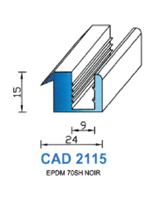 CAD2115N Profil EPDM   70 Shore   Noir