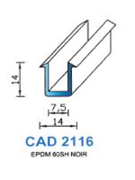 CAD2116N Profil EPDM   60 Shore   Noir