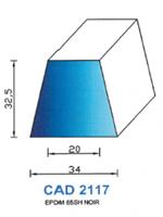 CAD2117N Profil EPDM <br /> 65 Shore <br /> Noir<br />