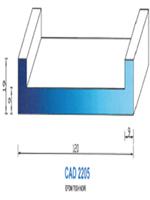 CAD2205N Profil EPDM   70 Shore   Noir