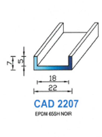 CAD2207N PROFIL EPDM - 65SH - NOIR