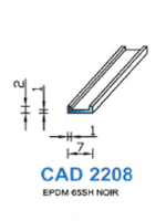 CAD2208N PROFIL EPDM - 65SH - NOIR