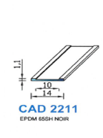 CAD2211N Profil EPDM   65 Shore   Noir