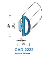 CAD2222N Profil EPDM   70 Shore   Noir
