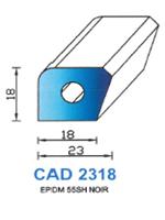 CAD2318N Profil EPDM   55 Shore   Noir