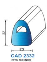 CAD2332N PROFIL EPDM - 60SH - NOIR