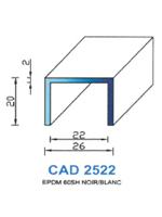CAD2522N Profil EPDM   60 Shore   Noir