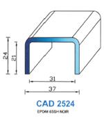 CAD2524N Profil EPDM   65 Shore   Noir