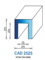CAD2525N PROFIL EPDM - 70SH - NOIR