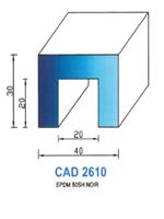 CAD2610N Profil EPDM   50 Shore   Noir