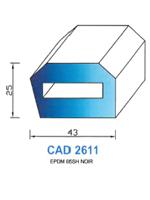 CAD2611N Profil EPDM   65 Shore   Noir