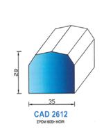 CAD2612N Profil EPDM   60  Shore   Noir