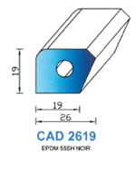 CAD2619N Profil EPDM   55 Shore   Noir