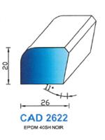 CAD2622N Profil EPDM   40 Shore   Noir