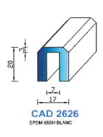 CAD2626B Profil EPDM   65 Shore   Blanc