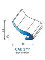 CAD2711N Profil EPDM   65 Shore   Noir