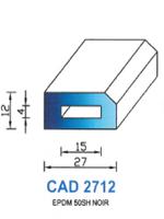 CAD2712N Profil EPDM   50 Shore   Noir